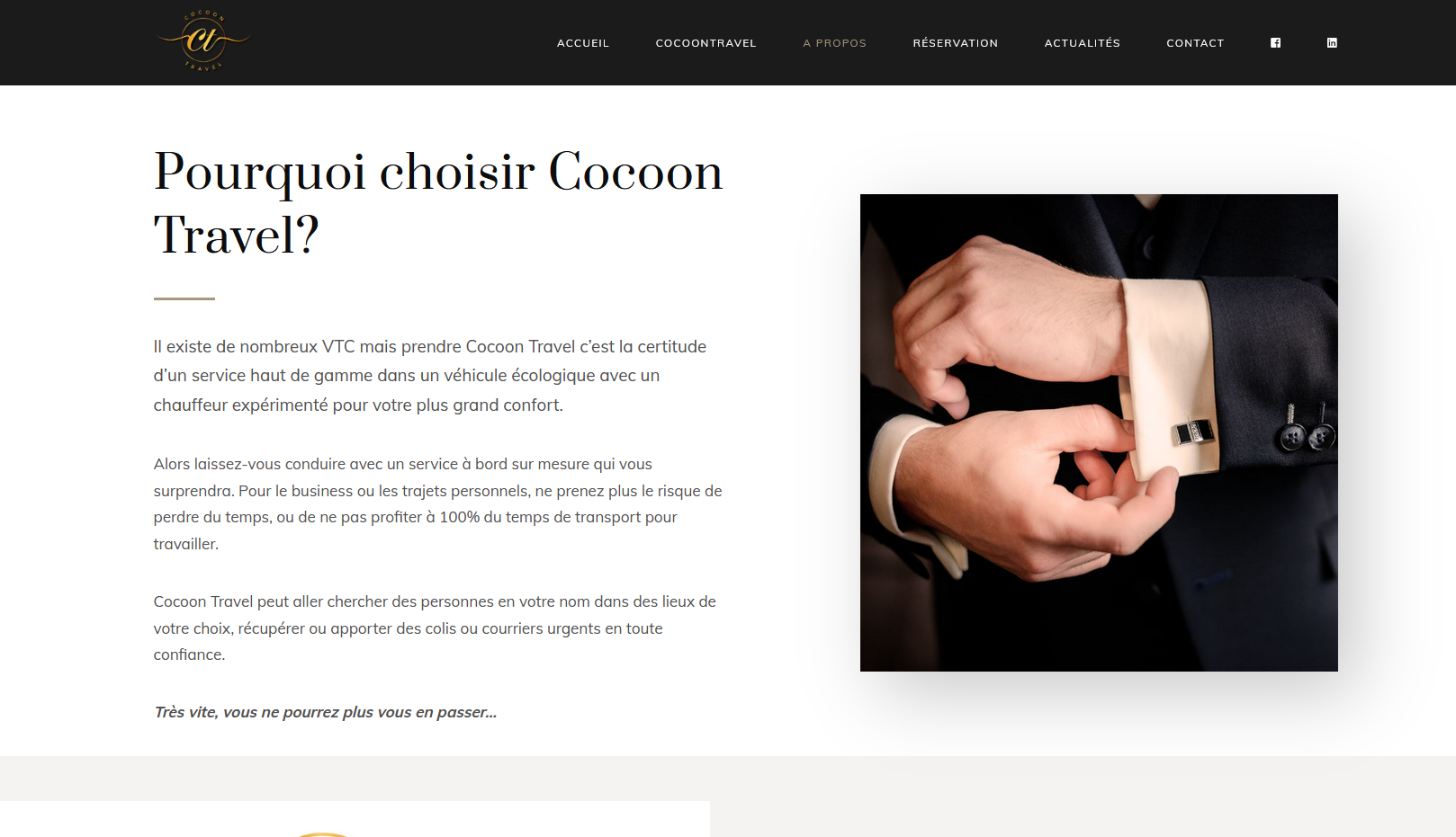 site web COCOON TRAVEL